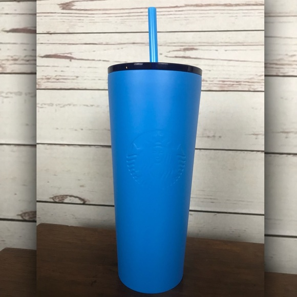 Starbucks Other - NEW 2018 Starbucks Coffee Matte Blue Tumbler